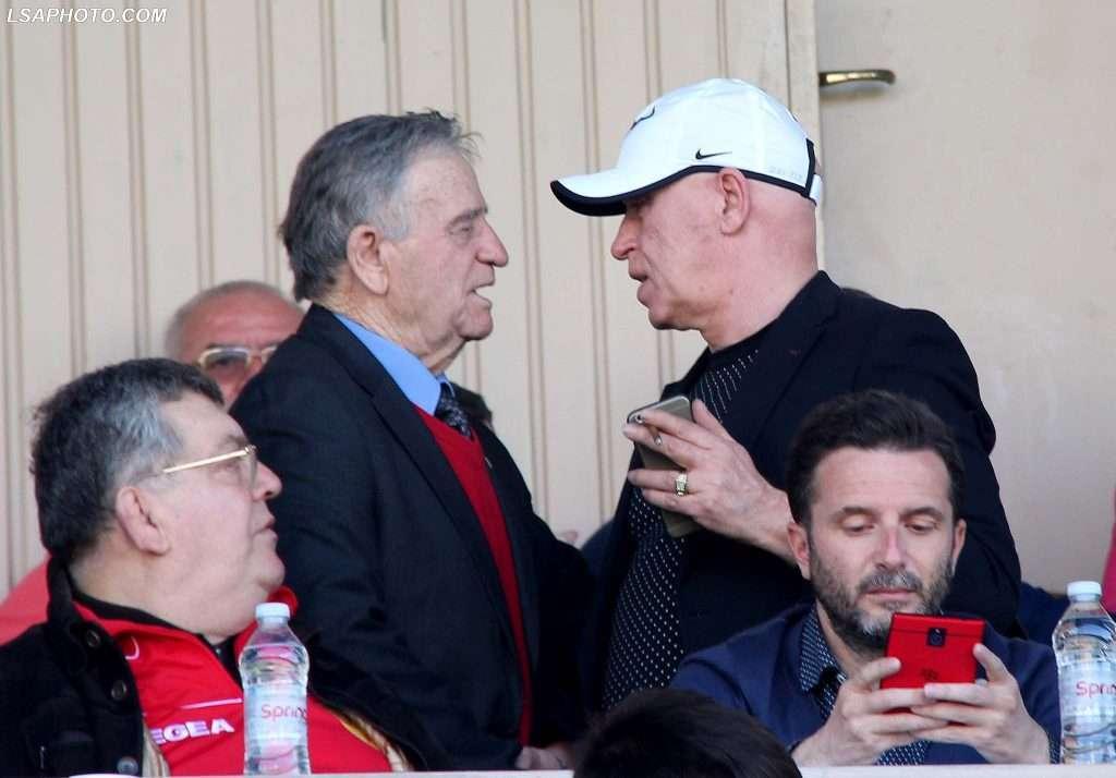 Mico Papadhopuli, Presidenti i Partizanit Gaz Demi, deputeti Erjon Brace dhe Muhamet Malo,