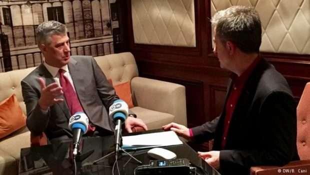 Thaçi për Deutsche Welle: 'Serbia po armatos serbët e veriut'